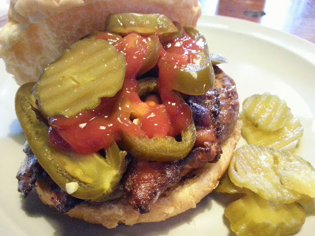 Pizza burger with a whole lot more!