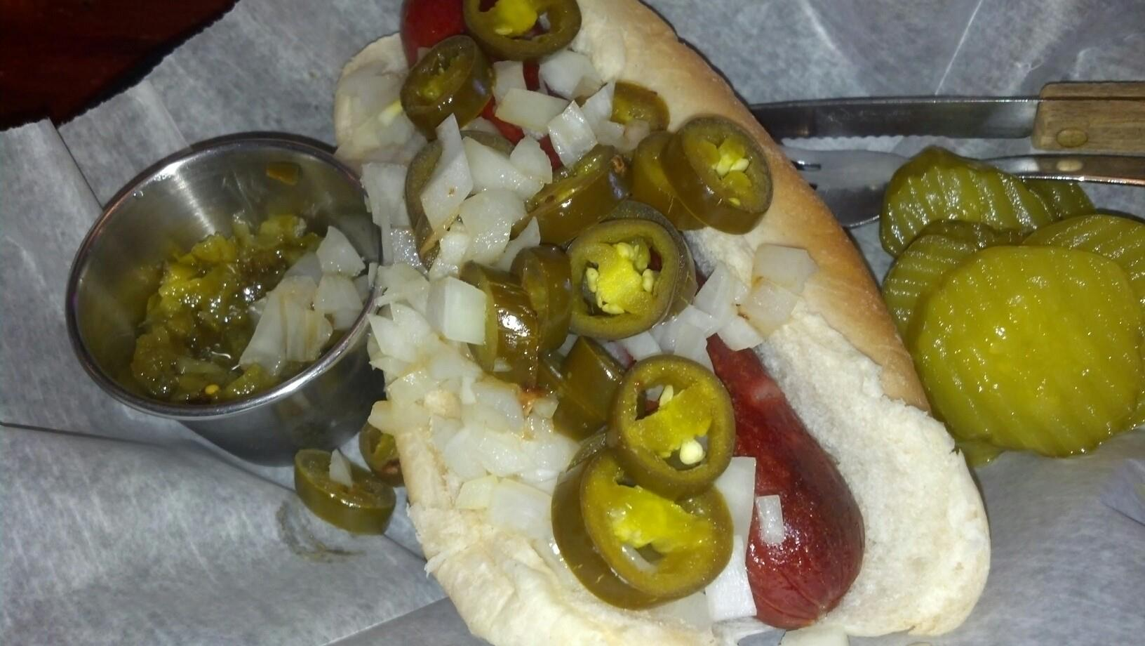 Hot Dog with the works!